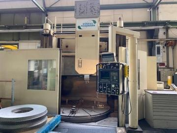 CNC carousel lathe - single column